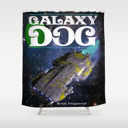 Galaxy Dog Shower Curtain