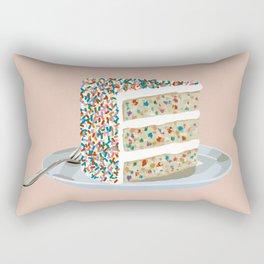 Sprinkle Party Cake Rectangular Pillow
