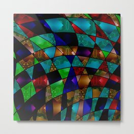 Abstract colorful magic pattern two Metal Print