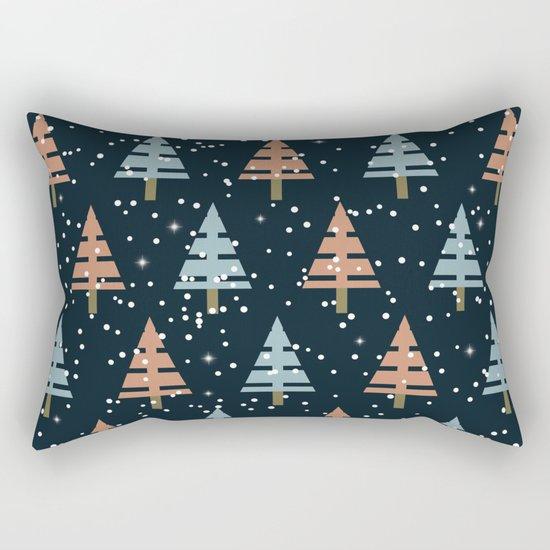 Winter. Christmas tree . Rectangular Pillow