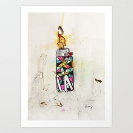 LA Lighter Art Print