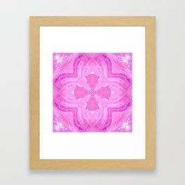 Jade Agate Stone Flower Fuchsia Framed Art Print