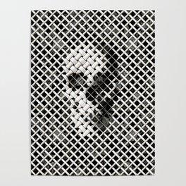 Wicker Skull Poster