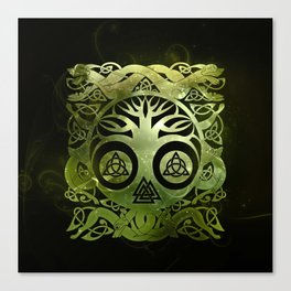 Tree of life - Yggdrasil  and celtic animals Canvas Print
