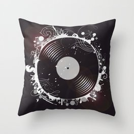 Retro record Throw Pillow