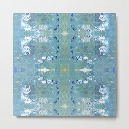 Textures (Blue) Metal Print