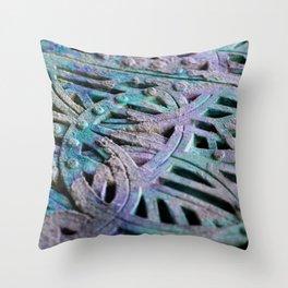 Great Patina Grate Throw Pillow