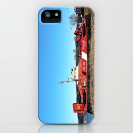 Hovercraft in Town iPhone Case