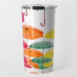 Rainbow Umbrellas Travel Mug