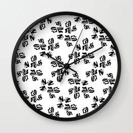 Ink Stroke Pattern Wall Clock