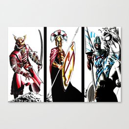 Warriors Three Canvas Print