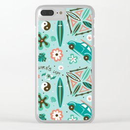 Surf's Up! Clear iPhone Case