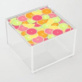 Fresh citrus slice pattern Acrylic Box