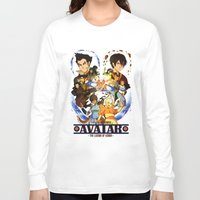 avatar the last airbender Long Sleeve T-shirts featuring Team Avatar by Willow
