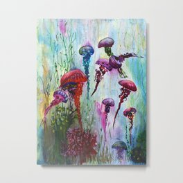 jolly jellyfish Metal Print