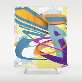 Graff abstract Shower Curtain