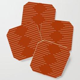 Terracotta geometric pattern Coaster