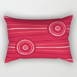 Waratah Line Painting Rectangular Pillow