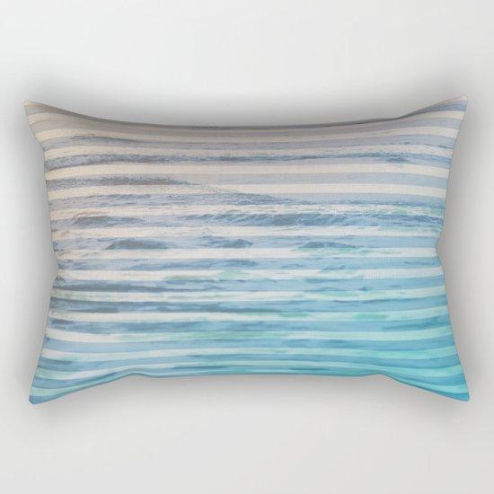 Sunrise Ocean Stripes Rectangular Pillow
