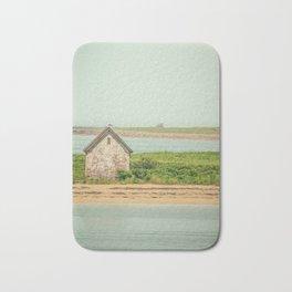 Little Beach House with Seagull Atop Bath Mat