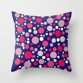 red and blue circle pattern Throw Pillow