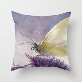 Dancing With Moonlit Wings Throw Pillow