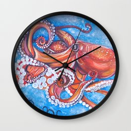 Colorful Octopus Wall Clock