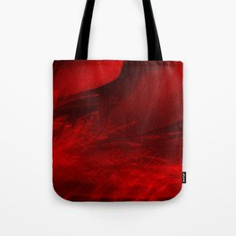 Scarlet Feathers Tote Bag