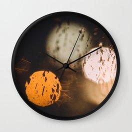 Night Bokeh Wall Clock