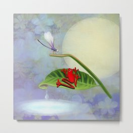 RedFrog and the Dragonfly Metal Print