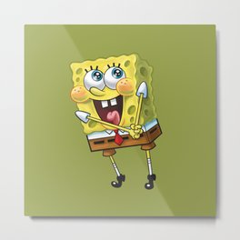 Spongebob Happy Metal Print