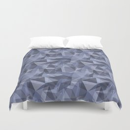 Ice: Abstract Polygon Blue and Purple Cubism Low Poly Triangle Design Duvet Cover