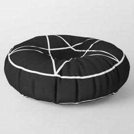 White Pentacle Floor Pillow