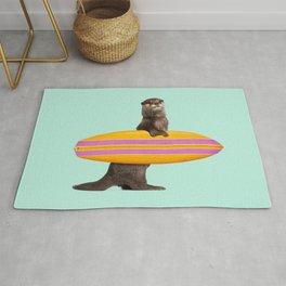 SURFING OTTER Rug