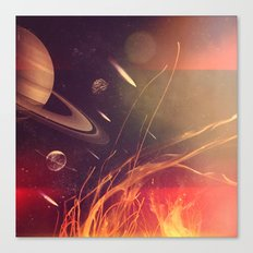 Space Fire Canvas Print