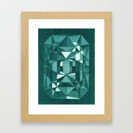 Emerald - Aquatint gemstone Framed Art Print