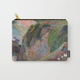 The Flageolet Player on the Cliff by Paul Gauguin Carry-All Pouch