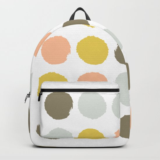 Gender neutral painted dots trendy color palette nursery gifts hipster decor Backpack