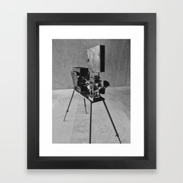 Vintage Cinema Camera Framed Art Print