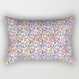 Gender Pride Pattern Rectangular Pillow