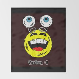 FREAKIN' LAUGHING EMOTICON! Throw Blanket