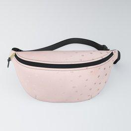 Rose Gold Pastel Pink Foil Paint Line Dots XXIII Fanny Pack