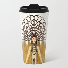 "Art Deco Design ""Café Foujita"" by Erté Travel Mug"