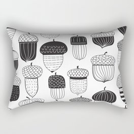Doodle acorns autumn pattern Rectangular Pillow