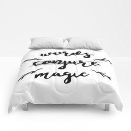 Words Conjure Magic Comforters