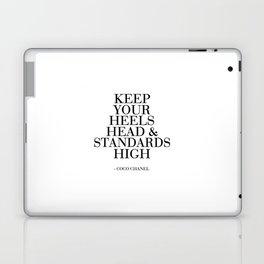 Keep Your Heels,Head And Standards High Printable Art Fashion Wall Art Fashion Decor Fashion Print Laptop & iPad Skin