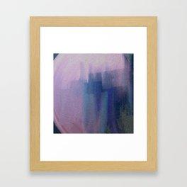 Big Blue City Framed Art Print