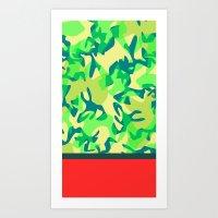 camo Art Prints featuring Camo by Ryan Ingram