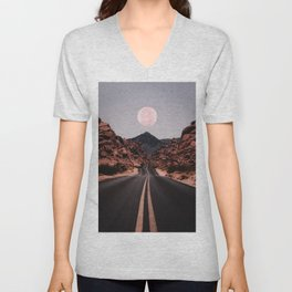 Road Red Moon Unisex V-Neck