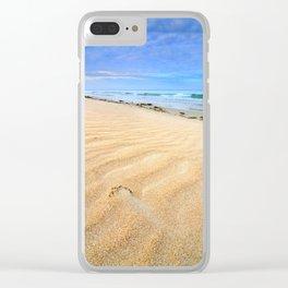 """Levante wind "" Magic Tarifa beach at sunrise Clear iPhone Case"